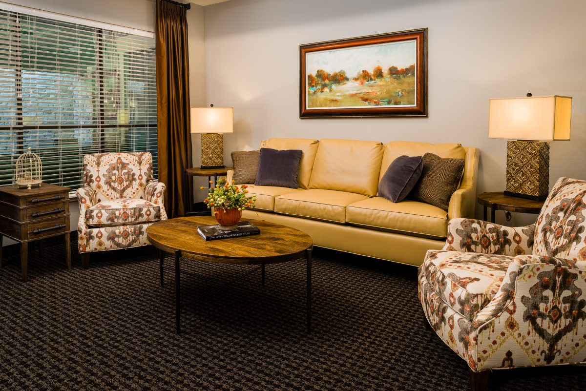 Luxurious, comfortable lounge in Accel nursing home