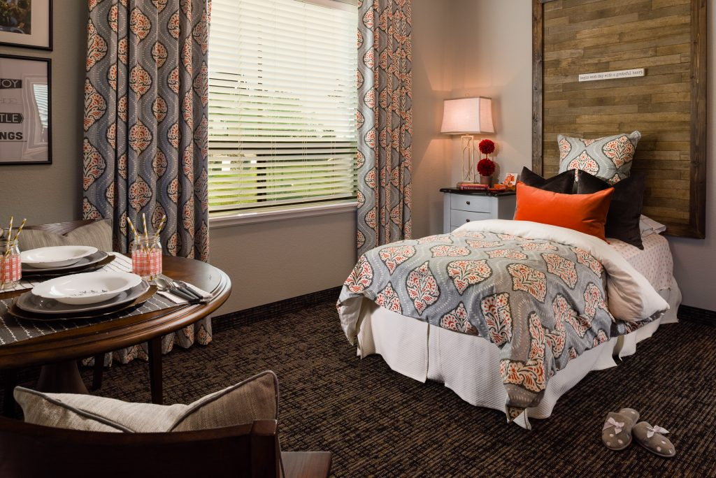 Comfortable, home-like private room at college station nursing home