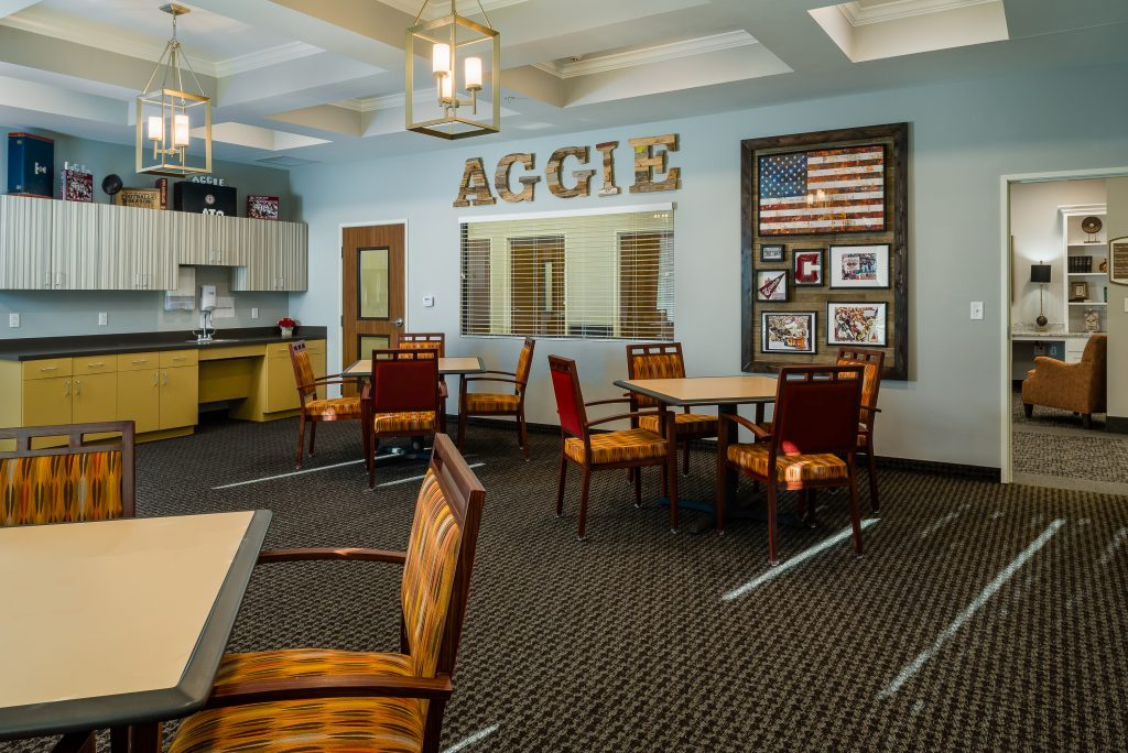 Aggie Heritage room at college station nursing home